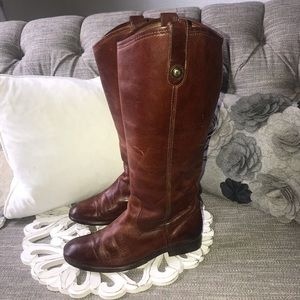Frye Tall Vintage Leather Boots Woman's 6
